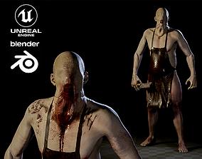 Blind Butcher charcter game model 3D asset