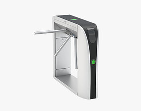 3D model Electronic Tripod Turnstile Gate by Frezzy