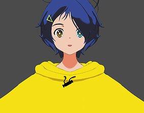ohto ai anime girl 3D model