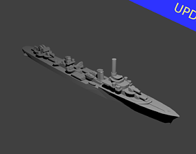 3D print model French Le Fantasque Class Destroyer Warship