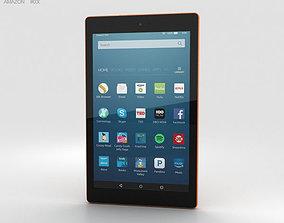 Amazon Fire HD 8 Tangerine 3D model