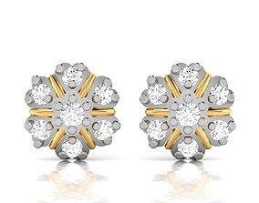 wedding hoop Women earrings 3dm render detail