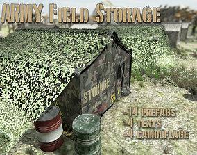 Army Storage Tent 3D model