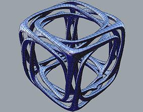 3D print model Linked Cube
