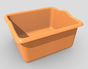 Plastic Wash Basin 3 3D asset