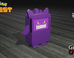 Gengar Pokemon Quest Nintendo Switch Stand 3D Print Model