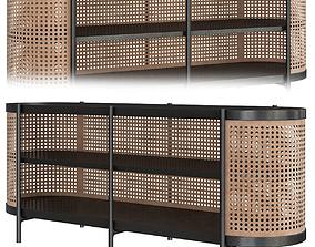Cane Low Cabinet 3D model