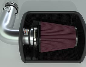 K and N cold air intake filter 3D