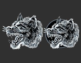 3D printable model angry wolf