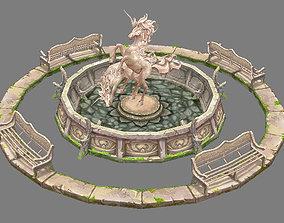 e Model Arena - Boise - fountain light elves 01 3D