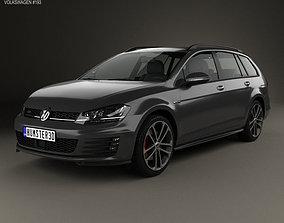 Volkswagen Golf GTD Variant 2015 3D