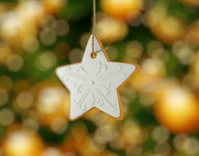 3D model low-poly Christmas star