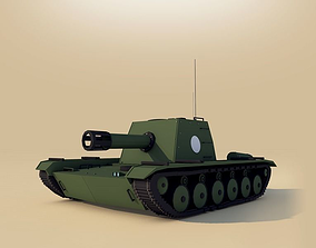 3D model Cartoon Low Poly Tank