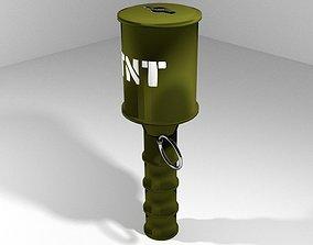 Hand Grenade Anti-tank Throwing Stick 3D