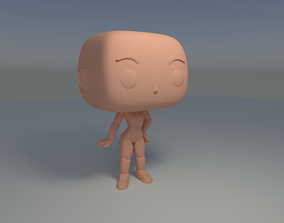 Custom Pop Female Standing Hairless Figure 3D Print