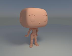 Custom Pop Female Standing Hairless Figure 3D Print