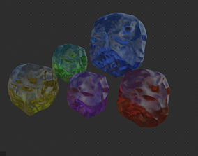 3D model low-poly Crystals