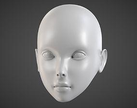 BJD Doll Head 3D print model