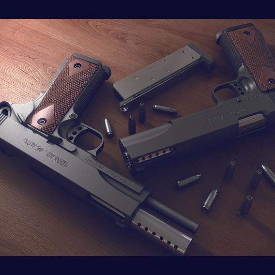 Gun_ High poly modeling