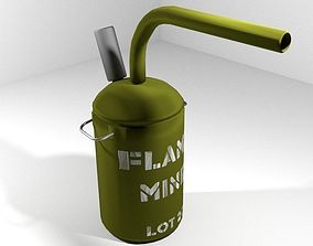 Landmine flame mine 3D