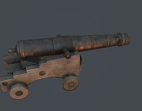 3D model VR / AR ready Old Cannon