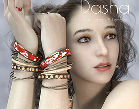 Dasha Teen For Genesis 8 Female 3D model rigged