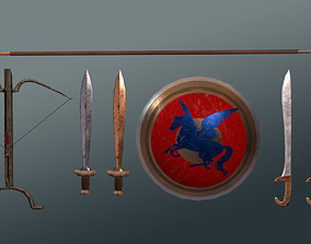 3D asset Ancient Greek Weapons Pack