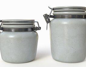 3D Antique kitchen jars