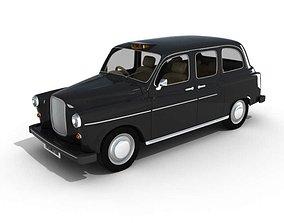 3D Black Old Car