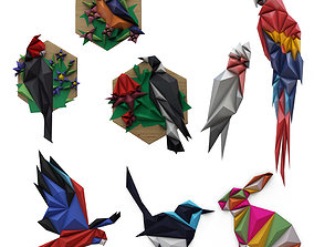 Origamis Wall Decoration Animals 3D model