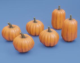 3D asset Pumpkin Set