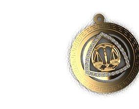 3D print model pendants Zodiac sign libra
