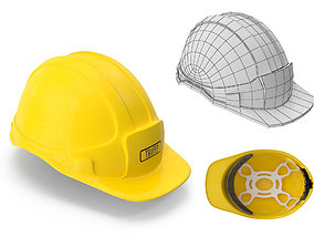 Yellow SafeTy Helmet 3D model