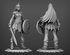 armor female gladiator 3d print