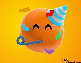 3D model Emoji Partying