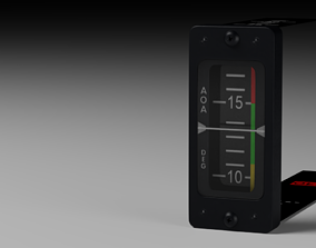 3D model F16 Angle Of Attack Indicator
