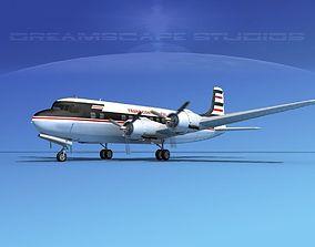 3D Douglas DC-6 Trans Continental