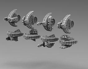 Modular Greater Good alt drones 3D print model 1
