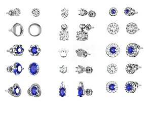 Set earring ready for 3d print