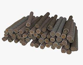 3D asset Wood Log 5 Low Poly