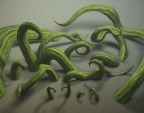 3D asset Stylized roots pack
