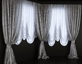 Curtains for the bay window 3D model