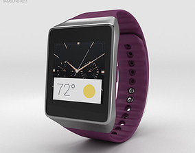 3D model Samsung Gear Live Wine Red