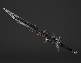 3D asset Fire Great Sword