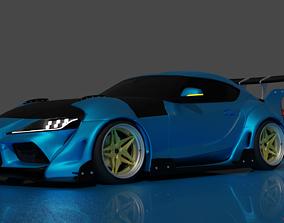 Toyota GR Supra V2 widebody 3D model