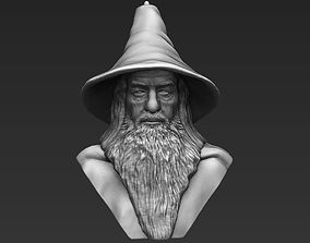 Gandalf Lord of the Rings bust 3D printing ready stl obj