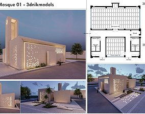 Small Mosque 01 - 3dnikmodels autocad