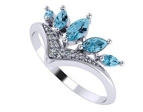 3D print model Ring diamonds Crown