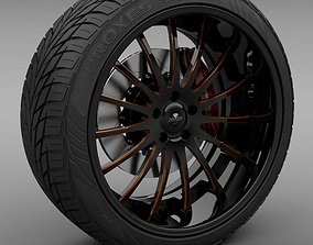 3D Savini Forged SV-34S Wheel and Tire
