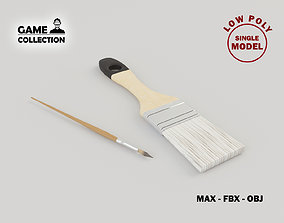 3D asset Brushes Lowpoly
